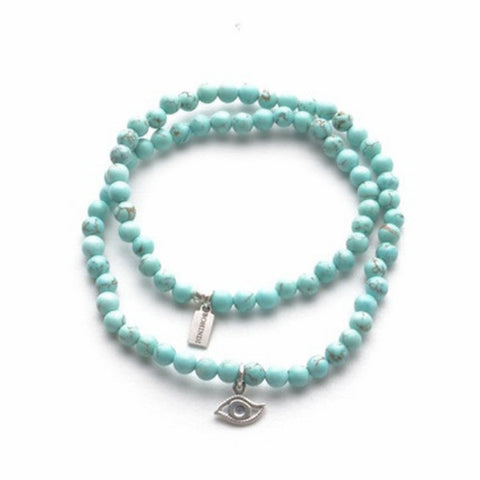 EVIL EYE PROTECTOR No. 1 MINI WRIST WRAP - TURQUOISE