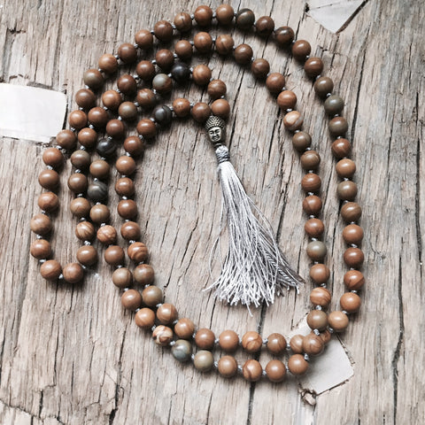 THE MINDFUL BUDDHA HAND KNOTTED MALA