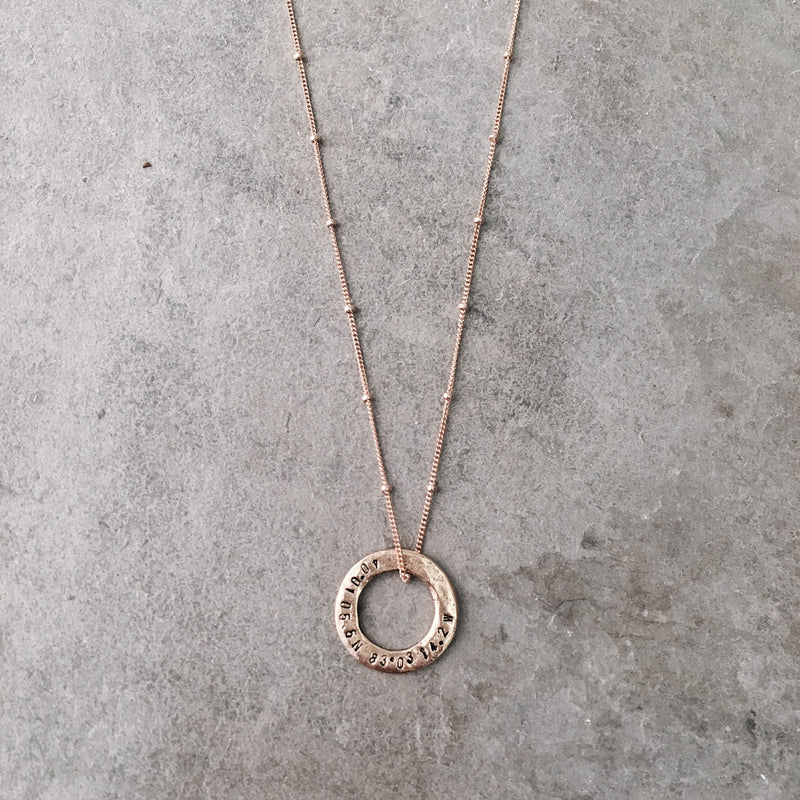 COORDINATES HALO NECKLACE
