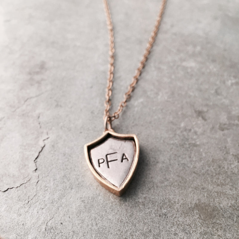 MONOGRAM SHIELD NECKLACE