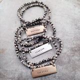 MANTRA BAR AND JASPER BRACELET