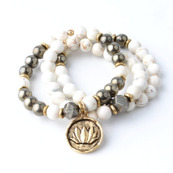 WILD LOTUS MOON STACK BRACELET SET
