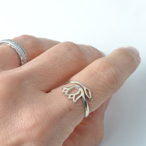LION LOTUS RING - ADJUSTABLE