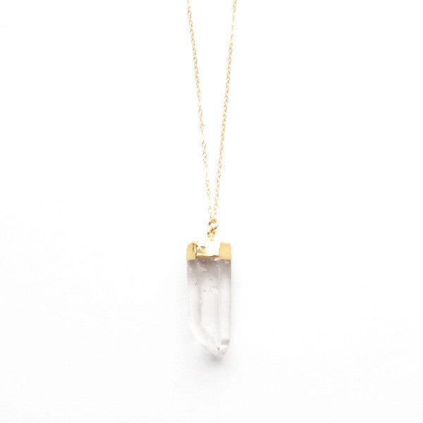 CLEAR QUARTZ NECKLACE No. 1