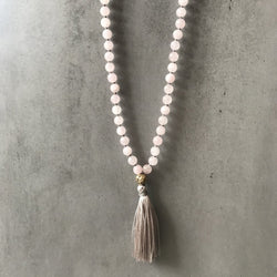 LOVE - ROSE QUARTZ MALA