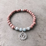 Throat chakra SEKOIA essential oil diffusing bracelet BOHINDI jewelry