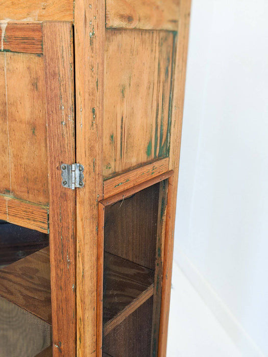 A Narrow Australian Pine Meat Safe c.1950 - Greystones Antiques