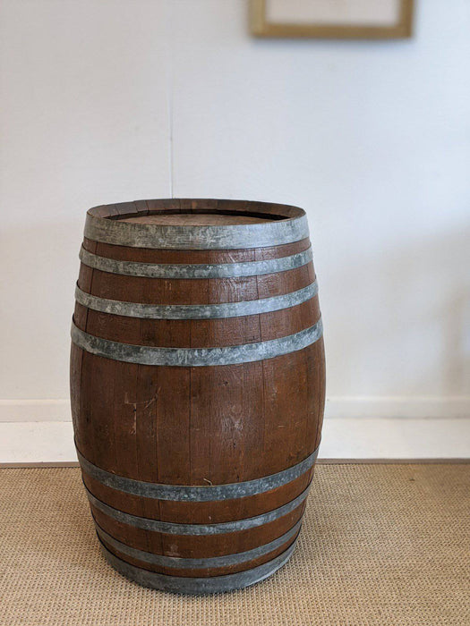 A French Oak Wine Barrel on Castors - Greystones Antiques