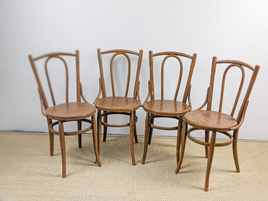 A Set of Four Victorian Bentwood Chairs - Greystones Antiques