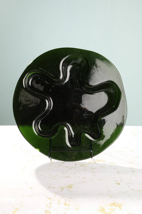 A Large 1970s Holmegaard Glass Plate - Greystones Antiques