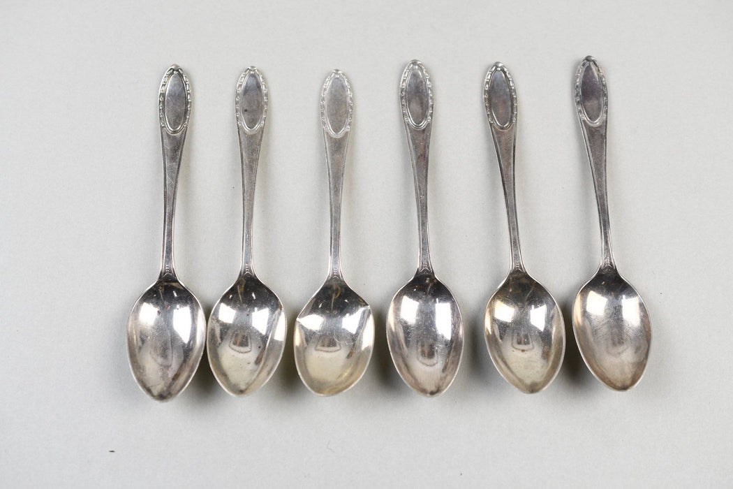Six Sterling Silver 1920s English Tea Spoons - Greystones Antiques