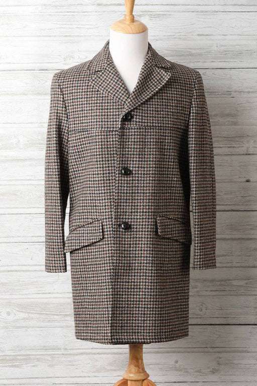 A 1960s Tweed Wool Men's Overcoat - Greystones Antiques