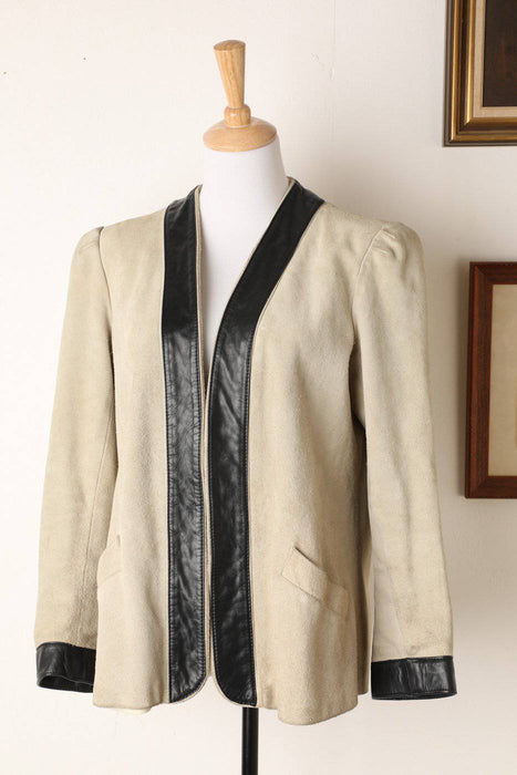 A 1970s Suede Sasson Paris Jacket - Greystones Antiques