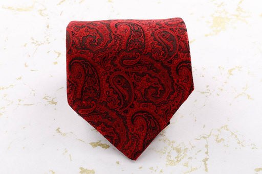 Red Paisley Tie - Greystones Antiques