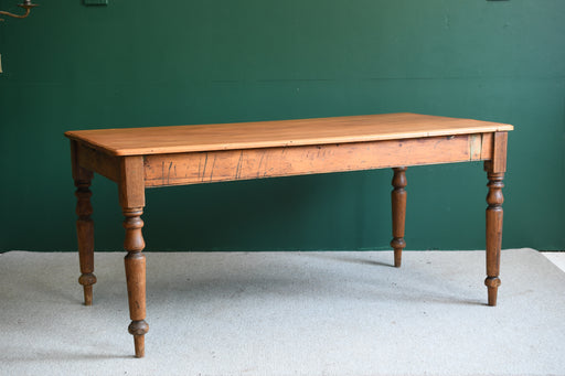 A 19th C. Narrow Pine Kitchen Table - Greystones Antiques