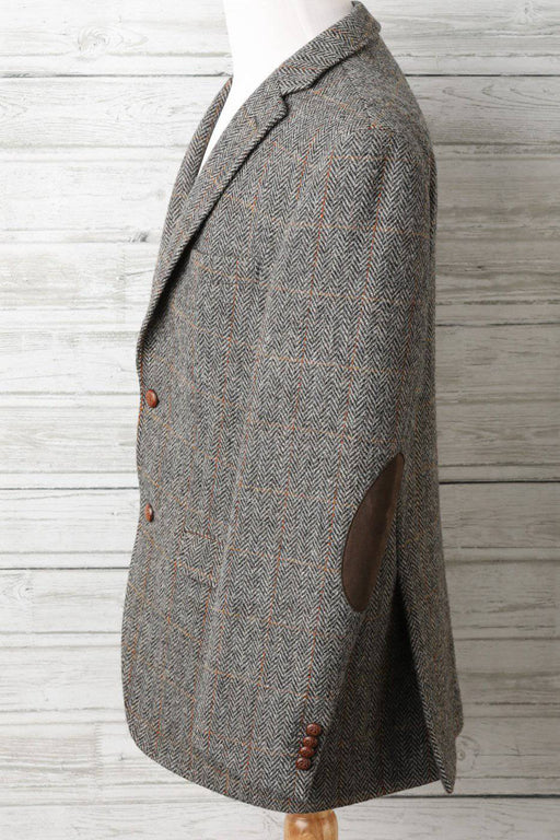 A Grey Flecked Harris Tweed Blazer - Greystones Antiques