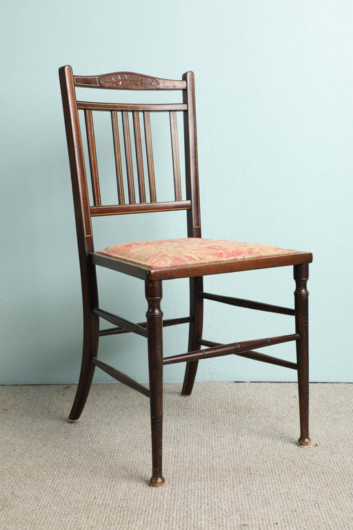 An Early 1900s Mahogany Drawing Room Chair - Greystones Antiques