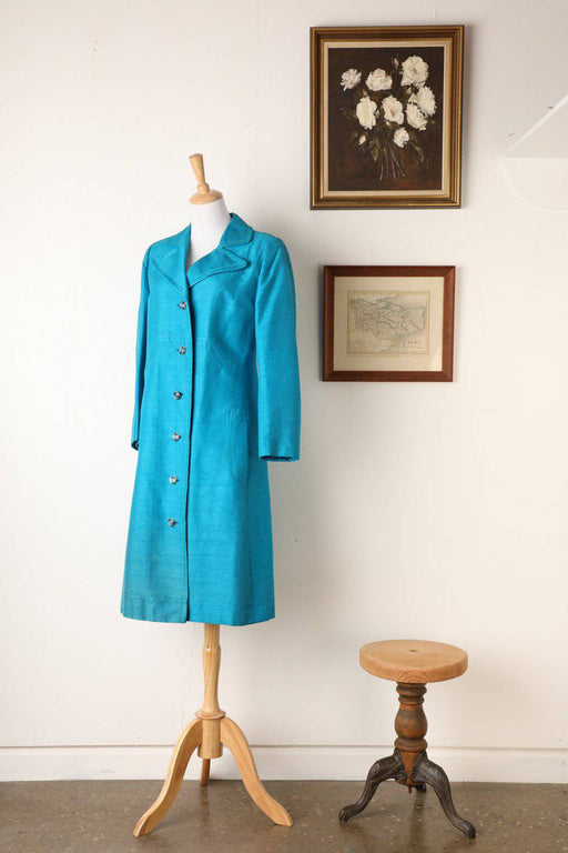 A 1960s Silk Coat - Greystones Antiques