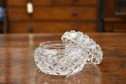 A Hand-Cut Crystal Lidded Trinket Bowl - Greystones Antiques