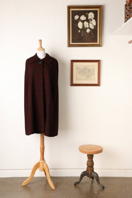 A 1960s 100% Woollen Tweed Cape - Greystones Antiques