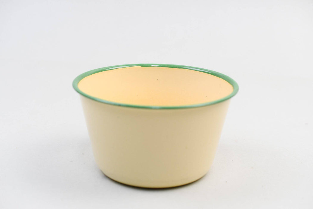 Pale Yellow Enamelware Bowl - Greystones Antiques
