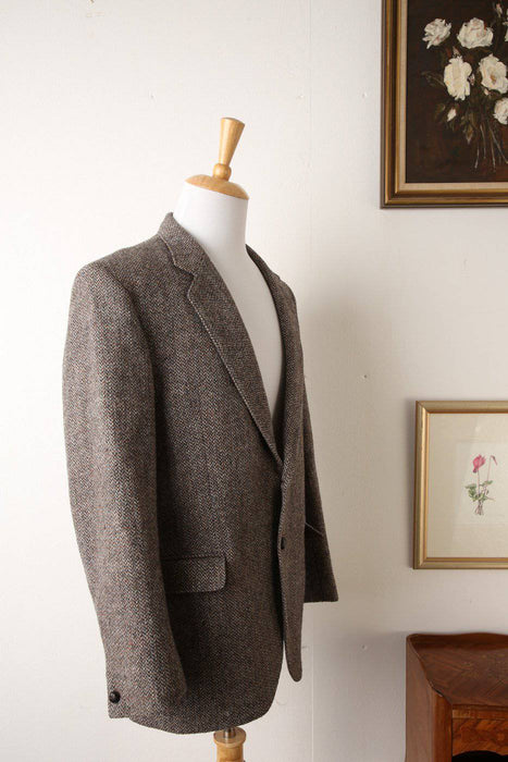 A Woollen Harris Tweed Blazer with Multi-Coloured Flecks - Greystones Antiques