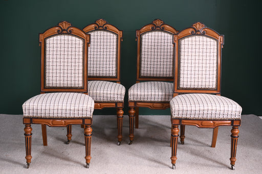 A Set of Four Victorian Maple Dining Chairs - Greystones Antiques