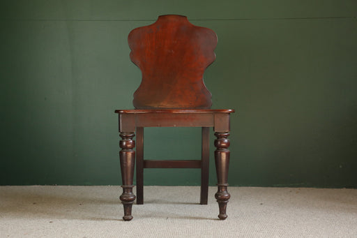 A Victorian Mahogany Hall Chair - Greystones Antiques