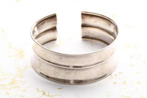 925 Sterling Silver Cuff Bangle - Greystones Antiques