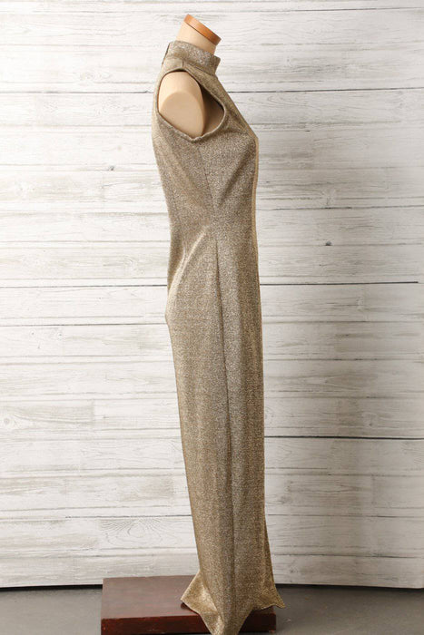 A 1980s Full Length Glitter Dress - Greystones Antiques