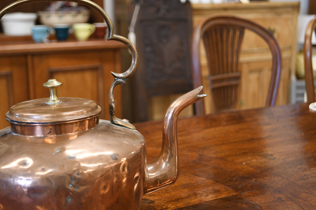 A French Copper Kettle Mid 1800s - Greystones Antiques