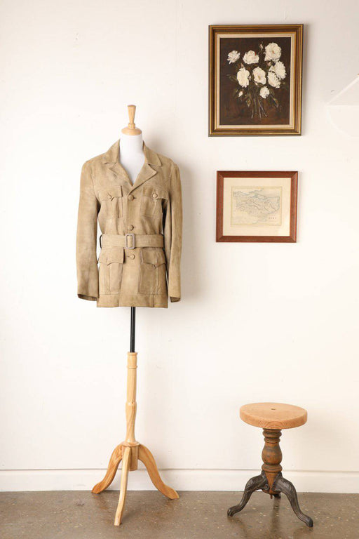 A 1970s Suede Short Coat - Greystones Antiques