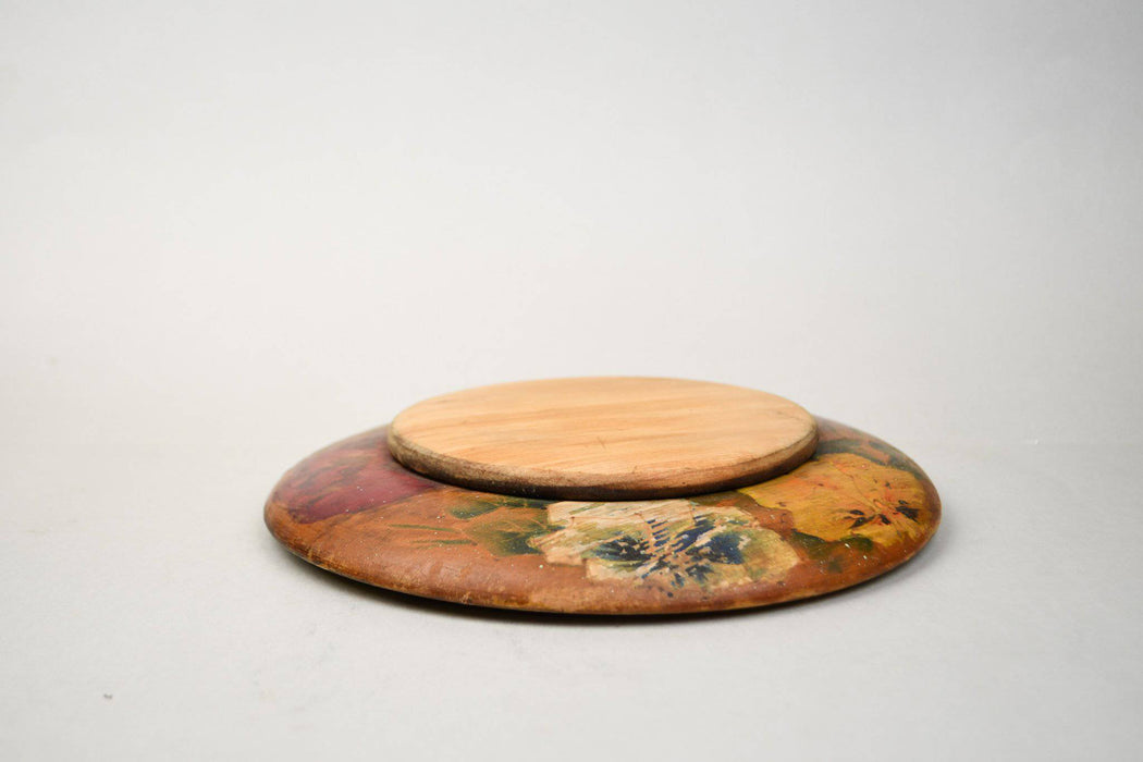 A Hand Painted Circular Pot Rest - Greystones Antiques