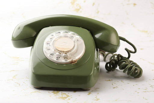 1970s Australian Rotary Dial Desk Phone - Greystones Antiques