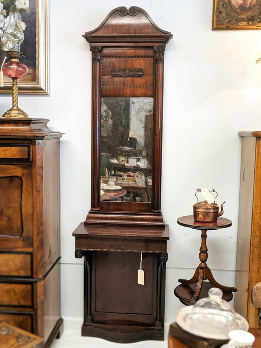 An Early 1800's Flame Mahogany Pier Mirror and Console Table - Greystones Antiques