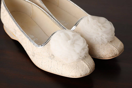 A Pair of 1950s White Slippers - Greystones Antiques