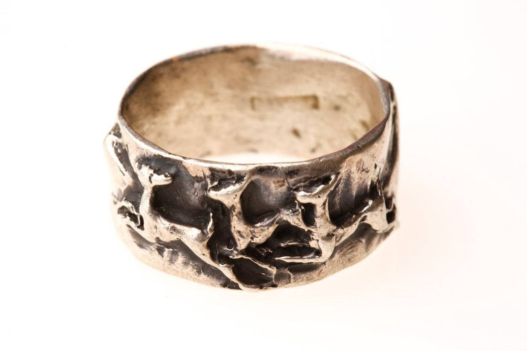 A Sterling Silver Running Deer Ring - Greystones Antiques