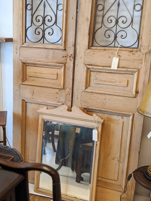 A Pair of 18th Century Baltic Pine and Wrought Iron French Doors - Greystones Antiques