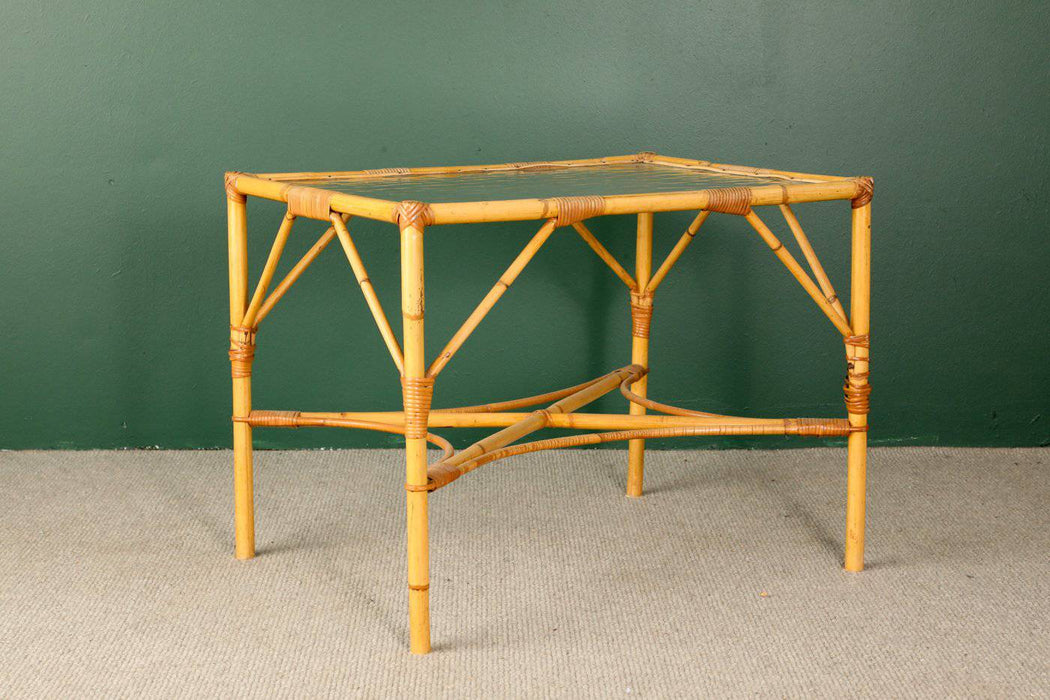 A Bamboo and Cane Coffee Table c.1930 - Greystones Antiques
