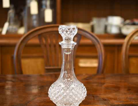 A Small French Lead Crystal Decanter 1960-1980 - Greystones Antiques