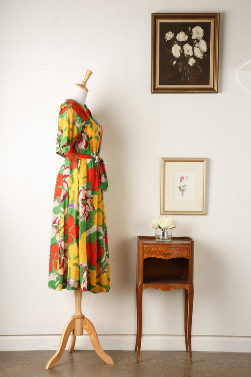 A 1960s Jean Muir Cotton Dress - Greystones Antiques