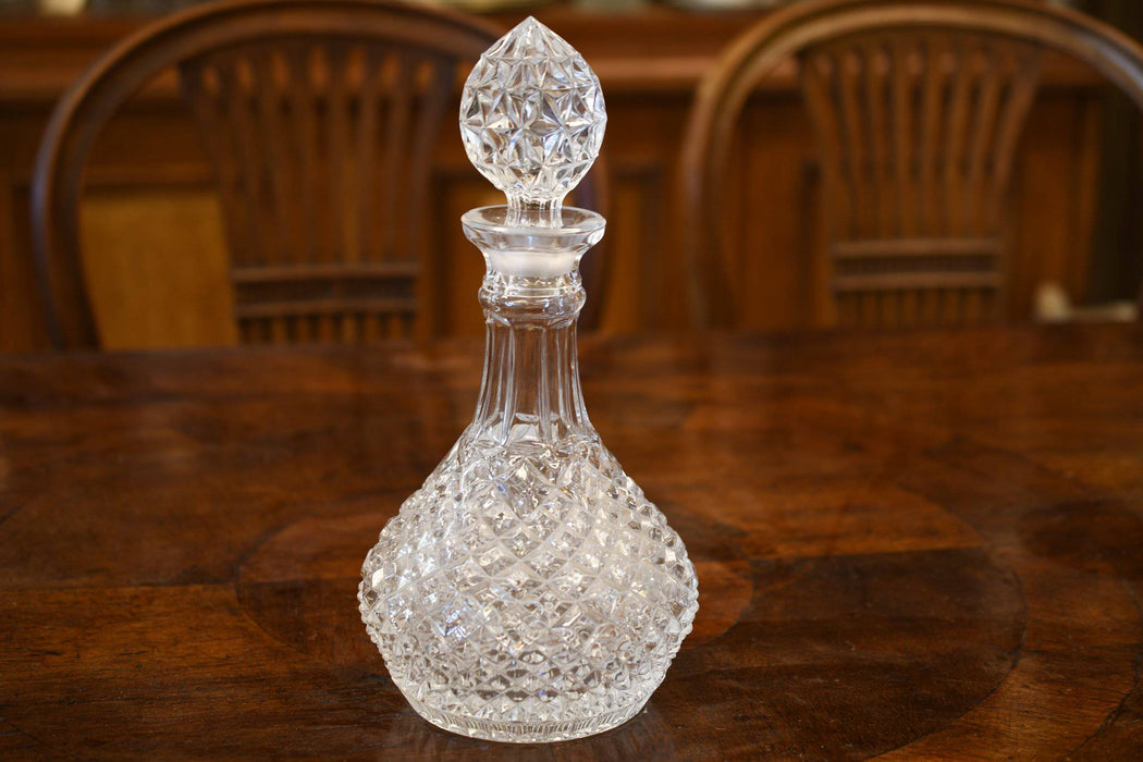 A 1950s Crystal Mould Blown Decanter - Greystones Antiques
