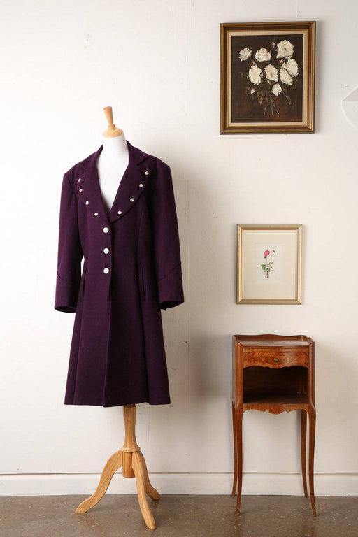 A Victorian Style Purple Coat - Greystones Antiques