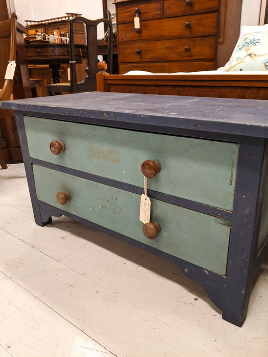 A Painted Oak Low Chest of Drawers - Greystones Antiques