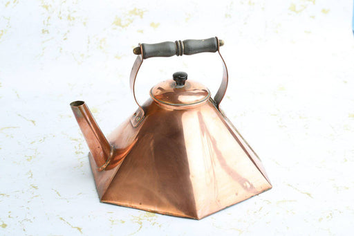 An Arts and Crafts Hexagonal Copper Kettle c.1900 - Greystones Antiques