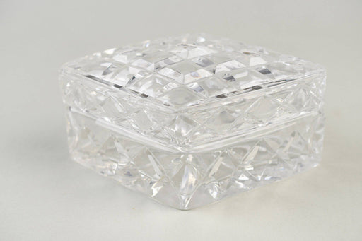 A Hand Cut Crystal Lidded Jewellery Box - Greystones Antiques