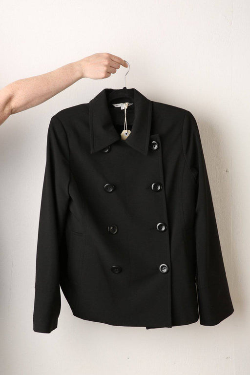 A Black Double Breasted Jacket - Greystones Antiques