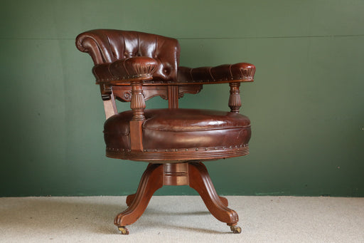 A Victorian Swivel Desk Chair - Greystones Antiques