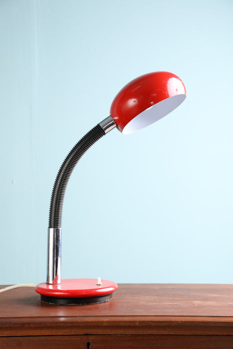 A 1960s Adjustable Red Desk Lamp - Greystones Antiques