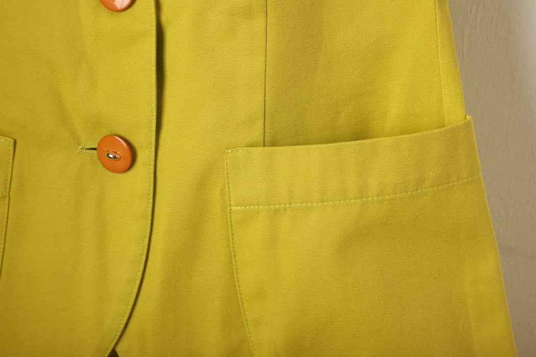 A 1960s Italian Lime Green Mini Skirt Suit - Greystones Antiques
